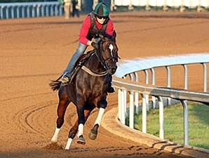 Frivolous worked five furlongs in :59 4/5 at Keeneland on Oct 23.