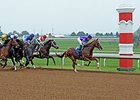 Pablo Del Monte leads early in the mile race at Keeneland on October 9.