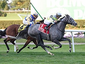 Stellar Path wins the 2015 Athenia Stakes.