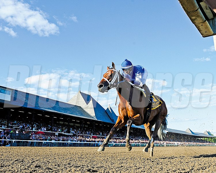 Questing wins the 2012 Alabama Stakes (gr. 1) at Saratoga.