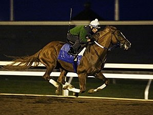 Tapiture worked five furlongs in 1:00 3/5.