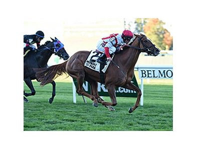"Partisan Politics takes the Pebbles Stakes.<br><a target=""blank"" href=""http://photos.bloodhorse.com/AtTheRaces-1/At-the-Races-2015/i-jhVNd6L"">Order This Photo</a>"
