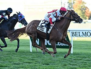 Partisan Politics takes the Pebbles Stakes.