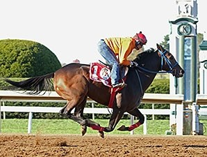 Mongolian Saturday breezed three furlongs in :37 2/5 at Keeneland Race Course Oct. 20.