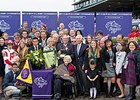 The Ramsey's in the winner circle following Stephanie's Kitten win in the Breeders' Cup Filly and Mare Turf (gr. IT).