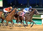 "Hoppertunity (left) finished 2nd in the Clark on Nov. 27.<br><a target=""blank"" href=""http://photos.bloodhorse.com/AtTheRaces-1/At-the-Races-2015/i-zm5BW2t"">Order This Photo</a>"