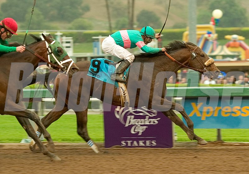 Tiago winning the Santa Anita Derby.