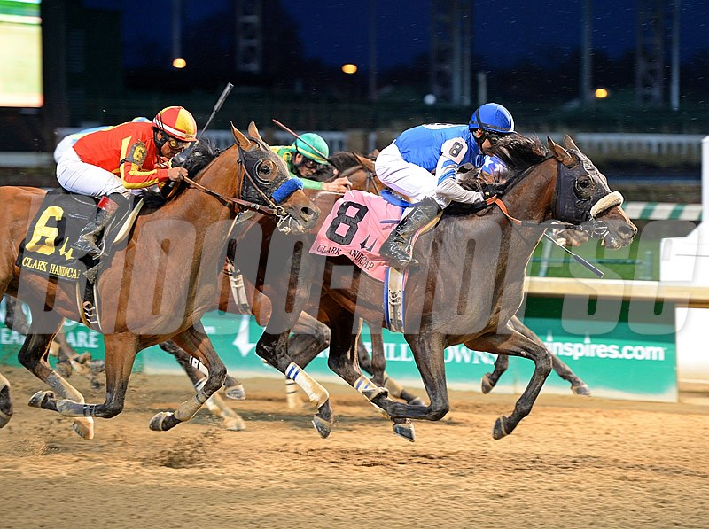 Tri-Bone Stables' Effinex capped his big season in a big way, holding off defending winner Hoppertunity by three-quarters of a length in the $500,000 Clark Handicap Presented by Norton Heathcare (gr. I) at Churchill Downs.