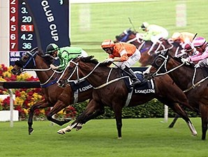 Military Attack get the victory in the Longines Jockey Club Cup.