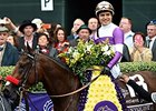 "Unbeaten champion Nyquist heads the list of Triple Crown nominees.<br><a target=""blank"" href=""http://photos.bloodhorse.com/BreedersCup/2015-Breeders-Cup/Sentient-Jet-Breeders-Cup-Juve/i-nGrfWc4"">Order This Photo</a>"