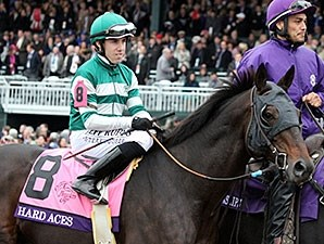 Hard Aces at the Breeders' Cup.