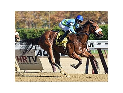 "Big World rolls to victory in the Tempted Stakes.<br><a target=""blank"" href=""http://photos.bloodhorse.com/AtTheRaces-1/At-the-Races-2015/i-H7nrBMB"">Order This Photo</a>"