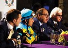 Team American Pharoah, Justin Zayat, Victor Espinoza, Ahmed Zayat, and Bob Baffert