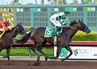Mor Spirit leaves Toews On Ice behind to win the Los Alamitos Futurity.
