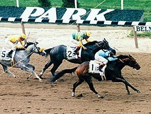 Touch Gold winning the Belmont Stakes.