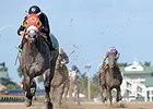 X Y Jet shown winning Gulfstream Park's Mr. Prospector Stakes