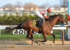 "Financial Modeling rolls to victory in the Queens County Stakes.<br><a target=""blank"" href=""http://photos.bloodhorse.com/AtTheRaces-1/At-the-Races-2015/i-kWMNzkH"">Order This Photo</a>"
