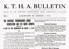KTHA Bulletin from August 1, 1916
