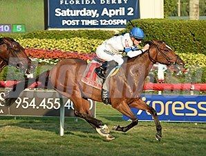 Julien Leparoux and Heart To Heart steal the Ft. Lauderdale Stakes
