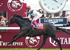 Golden Horn won the 2015  Qatar Prix de l'Arc de Triomphe.