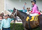 "Mark Casse in the winner's circle with Whatawonderflworld after the OBS Championship Stakes.<br><a target=""blank"" href=""http://photos.bloodhorse.com/AtTheRaces-1/At-the-Races-2016/i-9jqjvvF"">Order This Photo</a>"