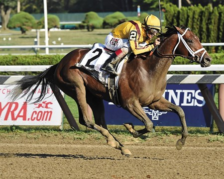 Six years after her dam beat the boys with a brilliant performance in the Woodward Stakes (gr. I), Rachel's Valentina put in an impressive run of her own Sept. 5, 2015 at Saratoga Race Course to take the $350,000 Spinaway Stakes (gr. I) for Stonestreet Stables.