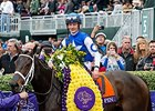 Tepin following her Breeders' Cup Mile victory.