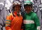 Rosie Higgins and Kent Desormeaux
