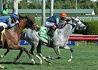 "Lori's Store comes running to take the Sunshine Millions Filly and Mare Turf Stakes. <br><a target=""blank"" href=""http://photos.bloodhorse.com/AtTheRaces-1/At-the-Races-2016/i-LFZSdvC"">Order This Photo</a>"