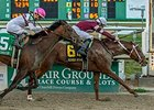 Gun Runner was voted Fair Grounds horse of the meet