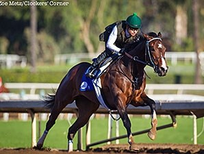 Songbird worked 5 furlongs in 1:00 4/5 on Feb. 21 at Santa Anita.