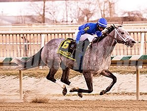 Dancing House scored her first stakes win after shaking off Lady Sabelia to take the Barbara Fritchie