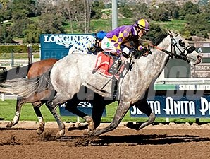 Kobe's Back wins the Palos Verdes Stakes.