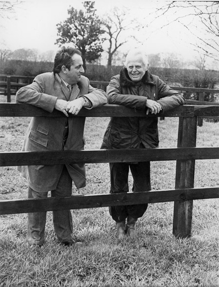 Moyglare Stud Farm owner Walter Haefner and stud manager Stan Cosgrove