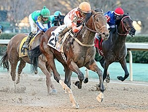 Suddenbreakingnews rallied from 14th and last to capture the Feb. 15 Southwest Stakes at Oaklawn Park