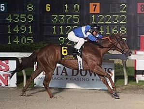 Icy Gentleman wins the 2016 LA Bred Premier Night Prince Stakes.