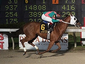 Witch Hunt wins the 2016 LA Bred Premier Night Ragin Cajun Starter Stakes.