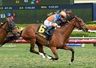 "Olorda rolls to victory in The Very One Stakes.<br><a target=""blank"" href=""http://photos.bloodhorse.com/AtTheRaces-1/At-the-Races-2016/i-KhbPQFS"">Order This Photo</a>"