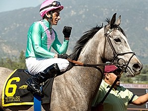 Tuttipaesi wins the 2016 Santa Ana Stakes.
