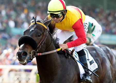 Welcome to the party, Danzing Candy. Unraced until November of last year, the Twirling Candy   colt emphatically announced his arrival on the Triple Crown trail with a gate-to-wire, two-length score over favored Mor Spirit in the $400,000 San Felipe Stakes (gr. II) at Santa Anita Park.