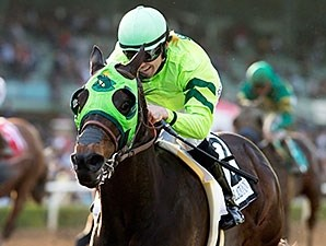 Melatonin wins the 2016 Santa Anita Handicap.