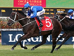 Winx wins the George Ryder Stakes March 19.