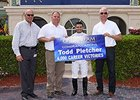 Todd Pletcher celebrates win number 4,000.