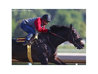Danzing Candy worked five furlongs in :58 3/5 on March 26.
