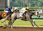 Tara's Tango leaves Taris behind to win the Santa Margarita Stakes.