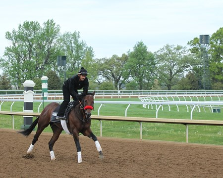 Nyquist trains at Keeneland April 26, 2016.