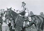 Donald Brumfield on Kauai King  after 1966 Derby