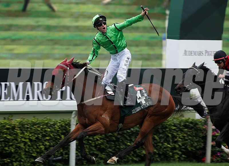 Military Attack wins the 2013 Audemars Piguet QEII Cup.