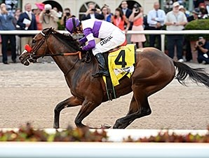 Nyquist dominates the Florida Derby.