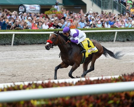 Nyquist wins the 2016 Florida Derby.